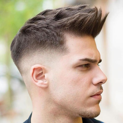 Faux Hawk Fade Hairstyle For Thin Hair