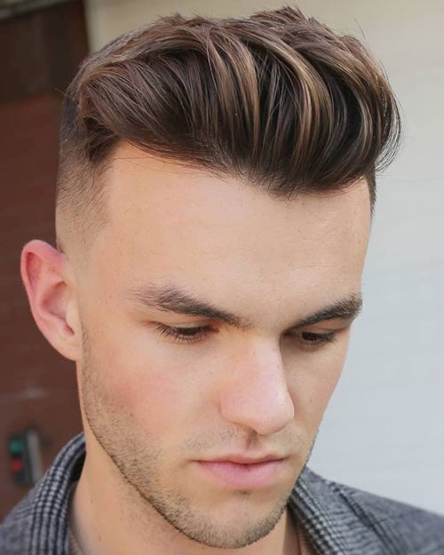 High Fade Haircut with Short Hair on Top
