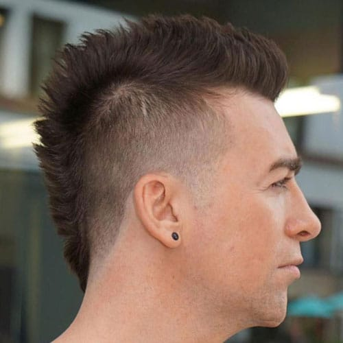 Mohawk Fade For Balding Men