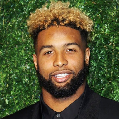 Odell Beckham Jr Blonde Hair with High Top Afro