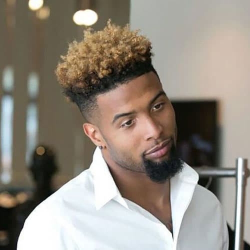 Odell Beckham Jr High Top Afro Fade