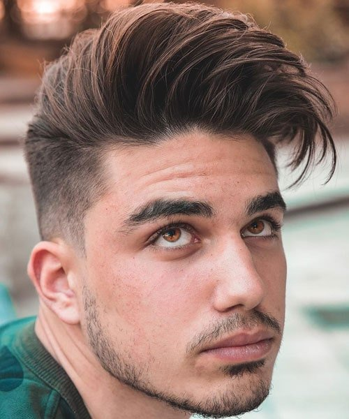 One Side Hairstyle Men