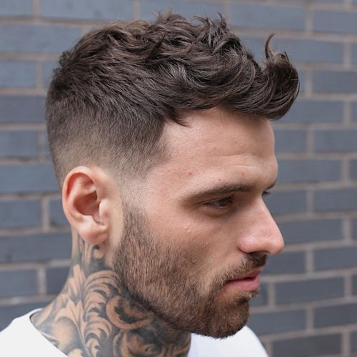 Quiff Fade Haircut For Thinning Hair Men
