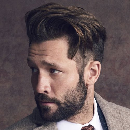 Short Undercut Sides with Swept Hair