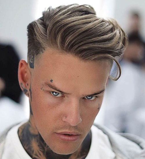 Side Swept Fade Haircut