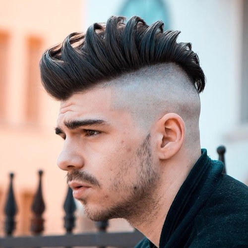 Side Swept Hair with Shaved Sides