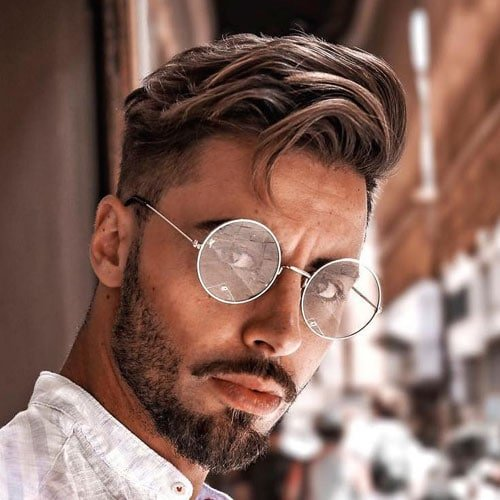 Side Swept Hairstyle Men
