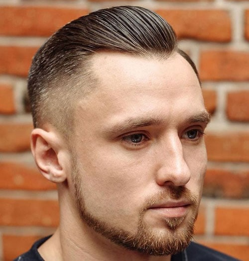 Slicked Back Fade Haircuts For Men with Thinning Hair