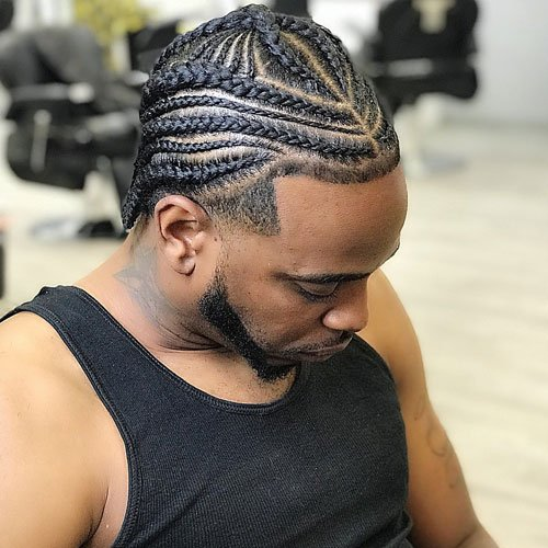 Big Cornrow Braids Men