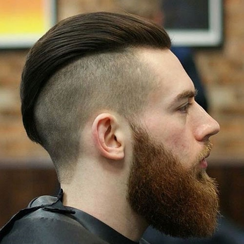 Combed Back Hair with Beard