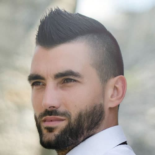 Short Hairstyles For Men with Widow's Peak