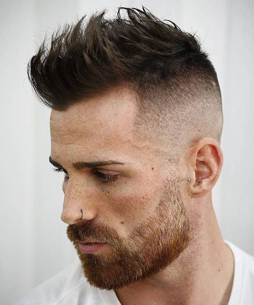 Short Spiky Hairstyle For Men with Widow's Peak