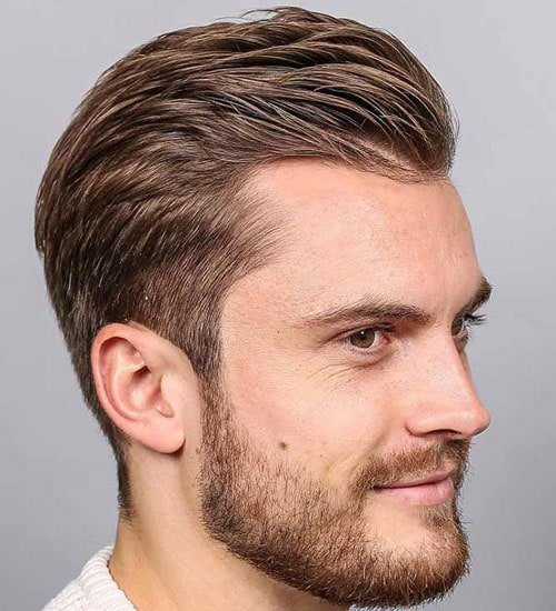 Widow's Peak Taper Haircut