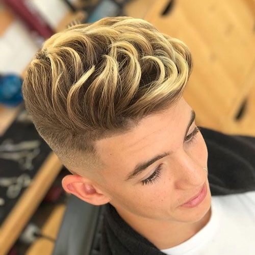 Modern Blonde Highlights For Men