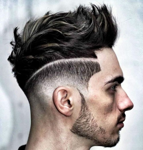 Modern Lines in Hair Men