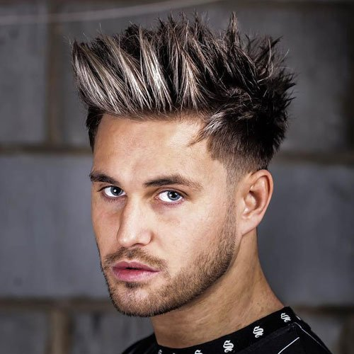 Modern Spiky Hair Men