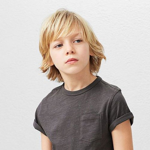 Textured Shag with Bangs For Boys