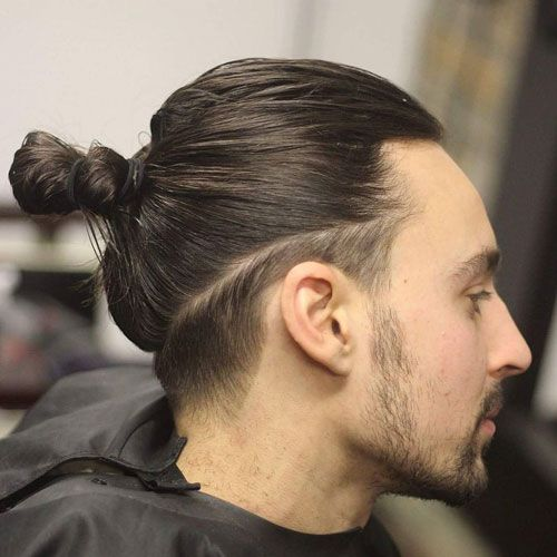 Low Fade with Long Hair Men