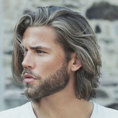 Hair mid male length 50+ Most