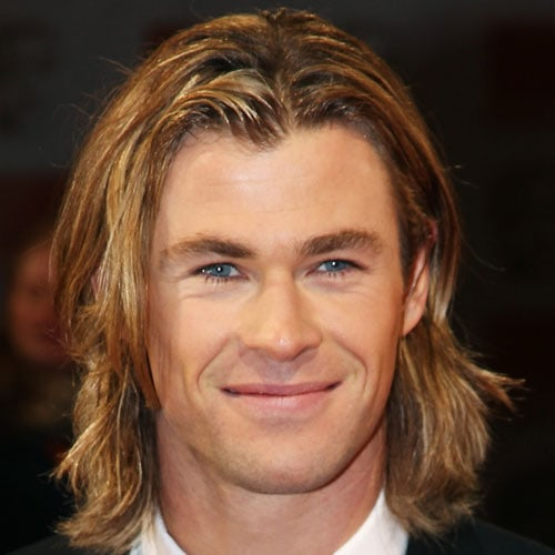 Middle Part Hair Men