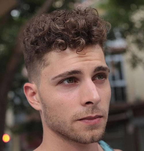 Curly Hair Taper Fade