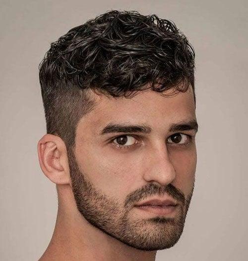 Short Curly Hair Fade Haircut