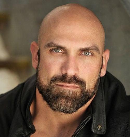 Smooth Bald Head with Beard
