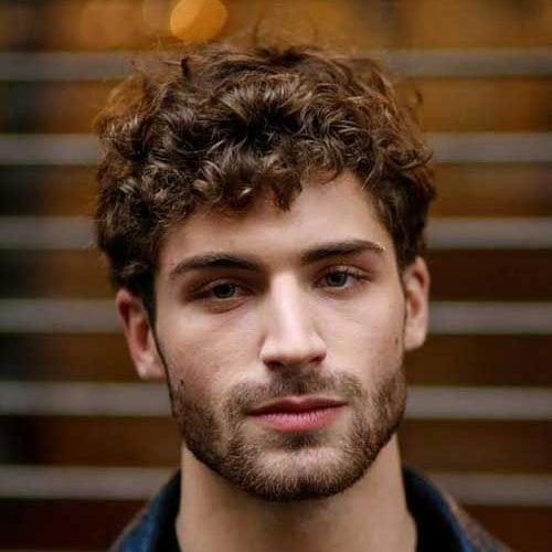 Curly Shaggy Hair Men
