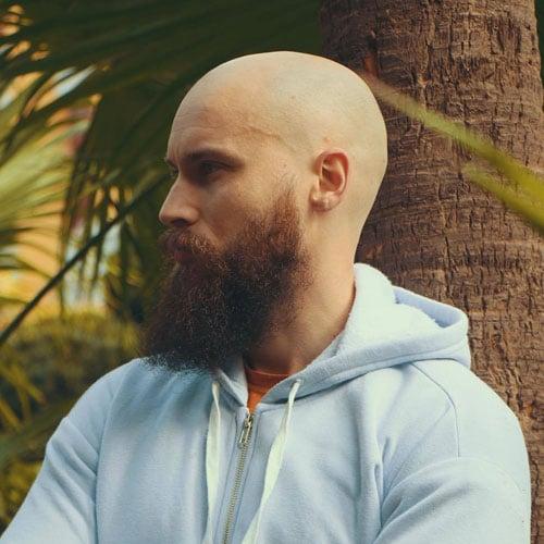 Bald Head with Beard Viking Hairstyle