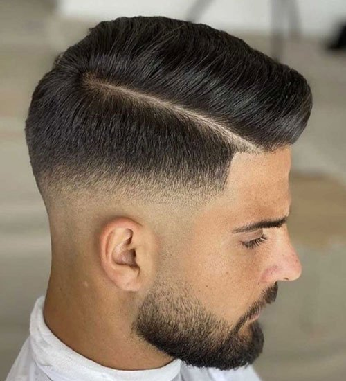 Cool Side Part Fade Hairstyle