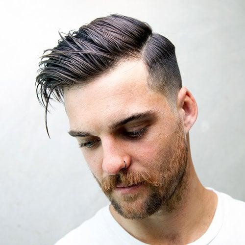 Low Maintenance Side Part Haircuts For Men